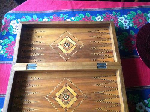 antiguo tablero backgammon faltan fichas