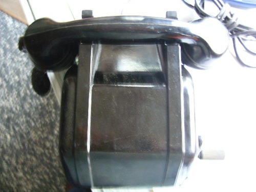 antiguo telefono a magneto funcionando