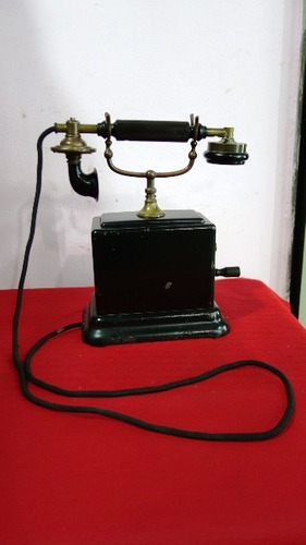 antiguo telefono a manivela antigua retro vintage