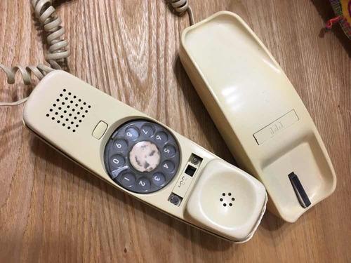 antiguo teléfono góndola de disco itt funcionando movistar..