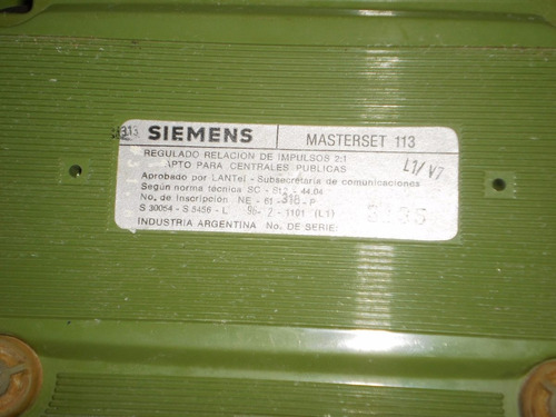 antiguo telefono siemens entel