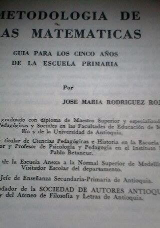 antiguo texto guia metodologia de las matematicas
