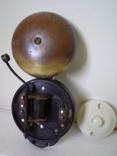 antiguo timbres pulsador y campana soneria bronce regalo