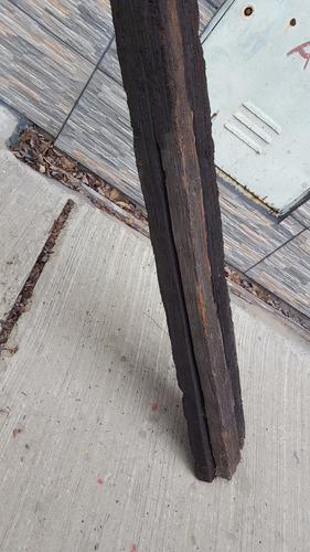 antiguo tirante de quebracho de 2,43 de largo