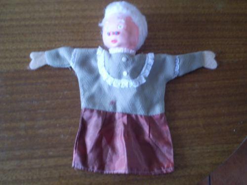 antiguo titere de los años 70  la abuelita (a2