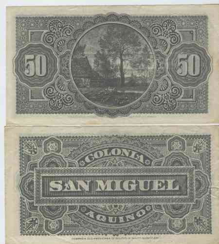 antiguo vale colonia aquino san miguel de 50 centavos!!!