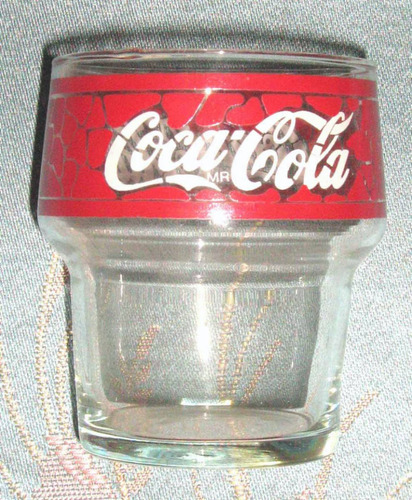 antiguo vaso de coca cola tipo tiffany