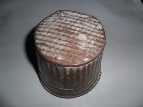 antiguo vaso macetero miniatura cobre decoracion envase
