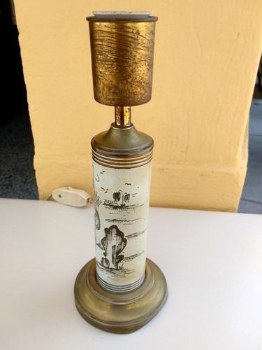 antiguo velador de bronce estilo oriental funcionando