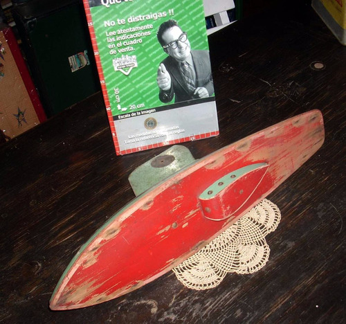 antiguo velero madera juguete regata 1950  (3525)