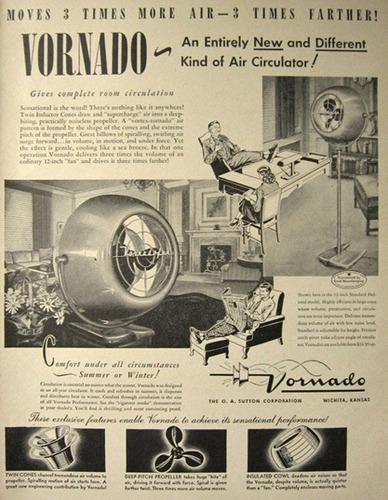 antiguo ventilador vornado de los años 50's de coleccion