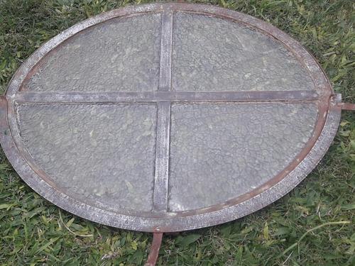 antiguo ventiluz / clarabolla  oval