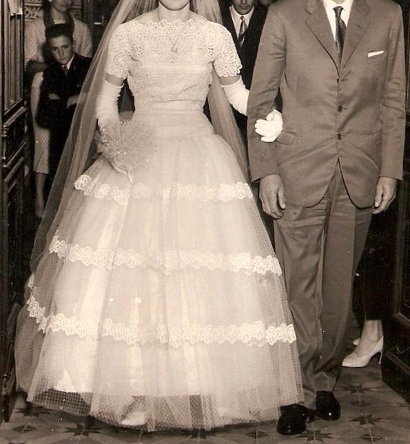 antiguo vestido novia encaje piedras - $ 3.572,80 en mercado libre
