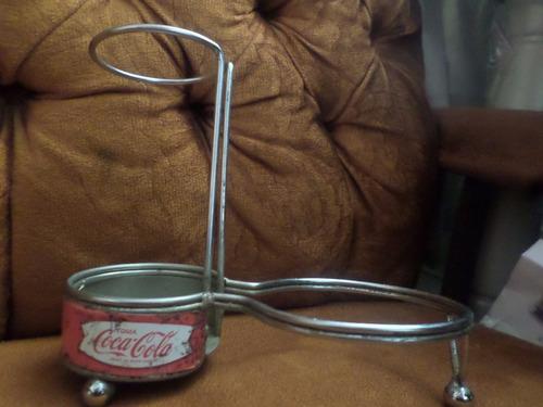 antiguo vintage porta botellas o vasos coca cola  50s 60s