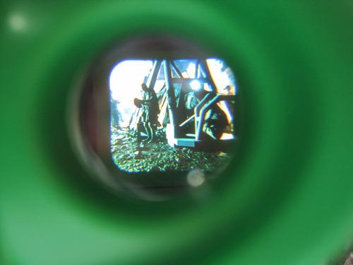 antiguo visor estereoscopio viewmaster jurassic park usad 3d