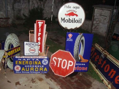 antiguo y raro cartel stop octogonal 60 cm por lado.