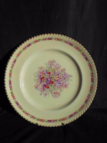 antiguos 6 platos loza inglesa johnson bros queens bouquet