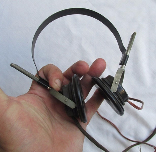 antiguos auriculares telefunken e.h. 333,germany,a restaurar