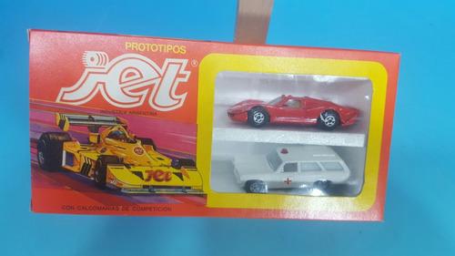 antiguos autos jet - caja x 2 .nuevos en caja varios modelos