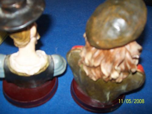 antiguos bustos che y don quijote