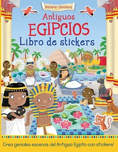 antiguos egipcios libro de stickers, joshua george, achis