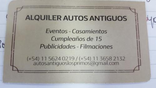 antiguos eventos, alquiler autos