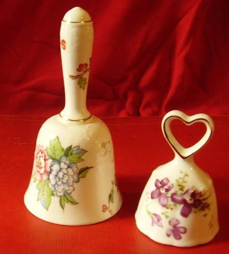 antiguos llamadores porcelana inglesa bone china campanitas