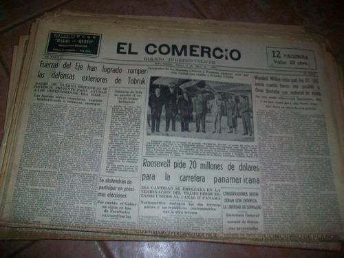 antiguos períodicos el comercio del año 1941, buen estado
