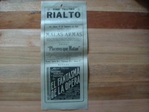 antiguos programas carteles de cine sonoro 1930
