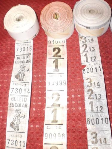 antiguos rollos de boletos de colectivo linea 60 lote de 9