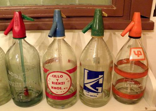antiguos sifones de soda de vidrio - vintage - por unidad