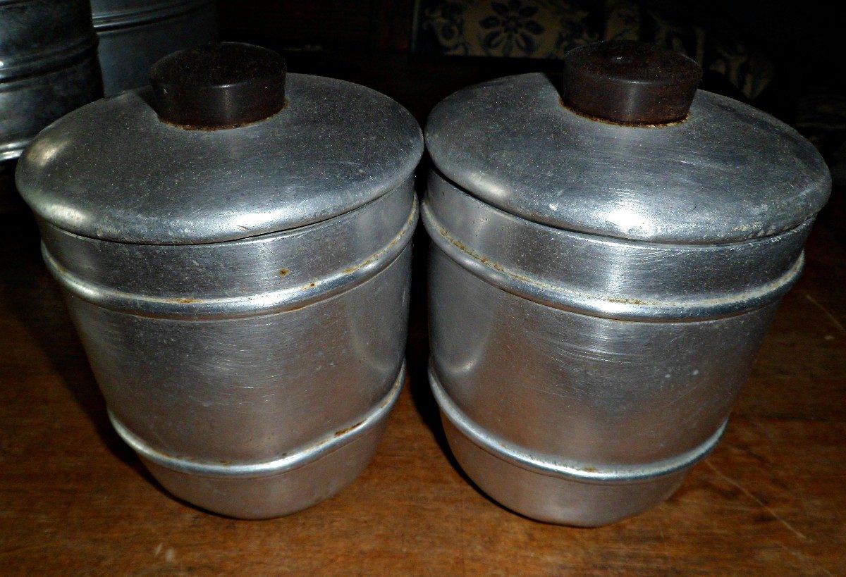 Antiguos tarros de cocina de aluminio el par 440 00 en for Tarros de cocina baratos