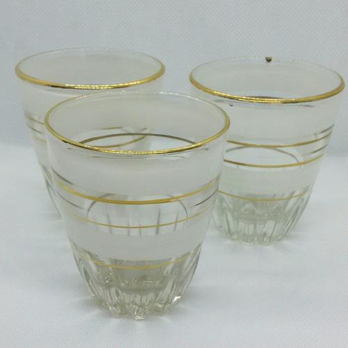 antiguos vasos cristalerías chile color blanco