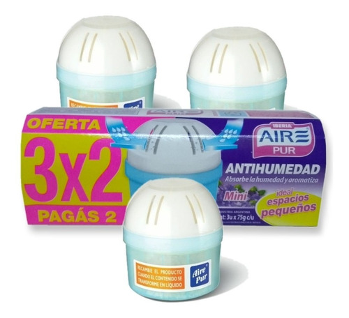 antihumedad con fragancia aire pur mini pack 3x2