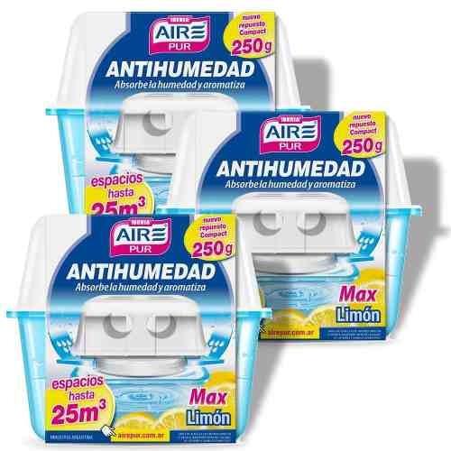 antihumedad perfumante limon aire pur max 25m3 pack 3un
