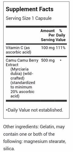 antioxidante camu camu 60 veces mas vit c 60 cap 500mg
