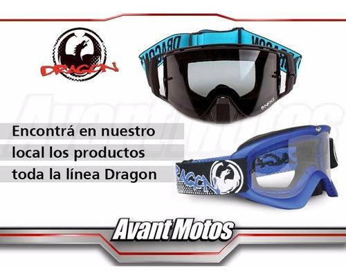 antiparra motocross dragon nfx2 negra smoke avant motos