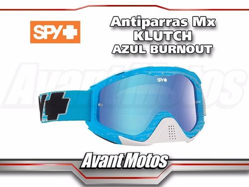 antiparra motocross spy klutch azul burnout avant motos
