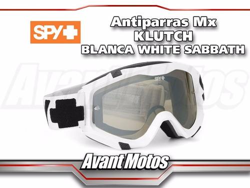 antiparra motocross spy klutch blanca sabbath avant motos