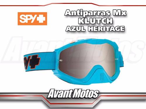 antiparra motocrss spy klutch azul heritage avant motos
