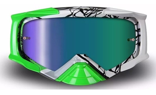 antiparra nenki nk-1020 verde blanco espejado