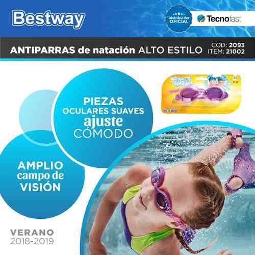 antiparras natacion bestway buceo rosa pileta tecnofast