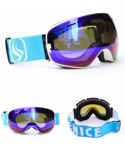 antiparras profesionales nieve uv400 ski snowboard antifog