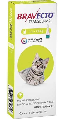 antipulgas bravecto gatos 1,2 a 2,8kg transdermal