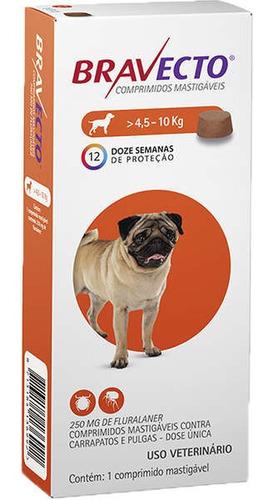 antipulgas bravecto para cães de 4,5 a 10kg