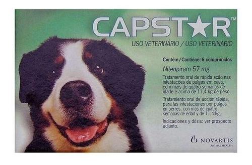 antipulgas capstar 57 mg cães11 a 57 kg - 6 comp