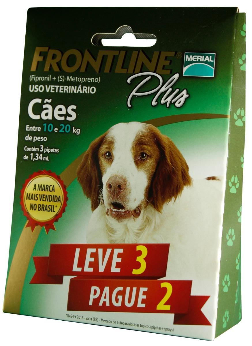 1251953fb2 Antipulgas E Carrapatos Frontline Plus - Cães De 10 A 20 Kg - R  79 ...