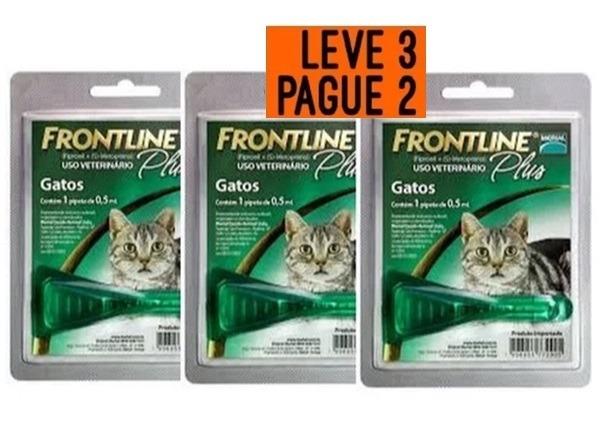 b851b67cf Antipulgas E Carrapatos Frontline Plus Para Gatos 3 Unidades - R$ 95 ...