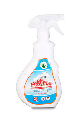 antipulgas garrapatas en spray petfree 500 ml + removedor