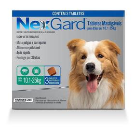 Antipulgas Nexgard Cães 10,1 A 25kg - 3 Tablete